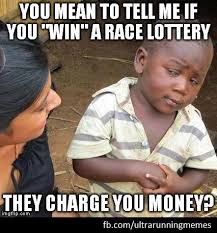 Ultra Running Meme Race Lottery