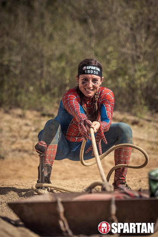Spartan Race Photos Halloween Spider Woman