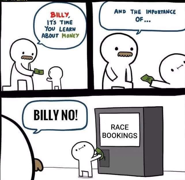 Race booking Meme May