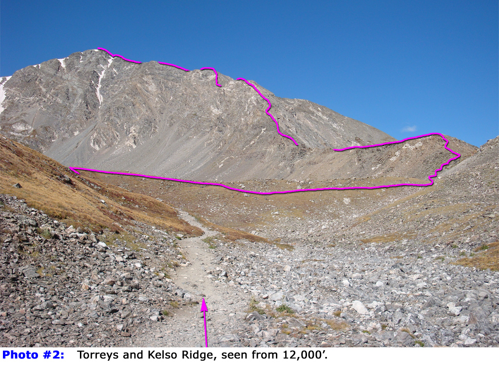 The Kelso Ridge Trail from 14ers.com