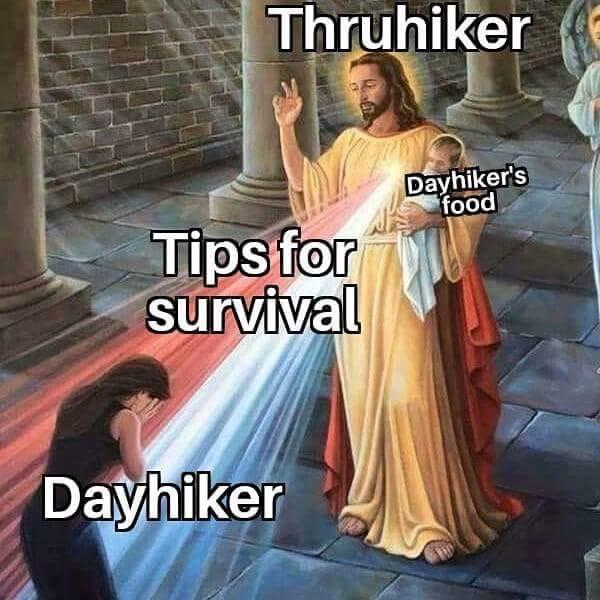 Thruhiker Backpacking Meme