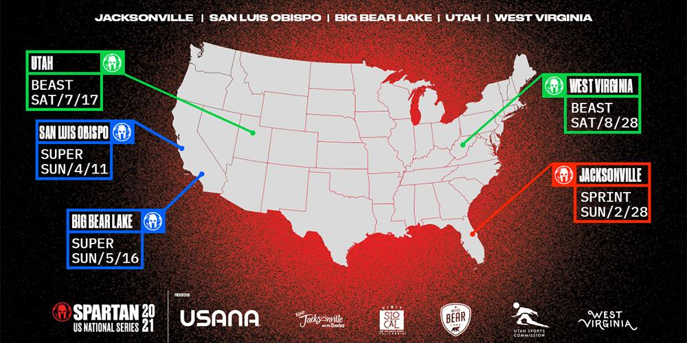 2021 Spartan Race US National Series Map