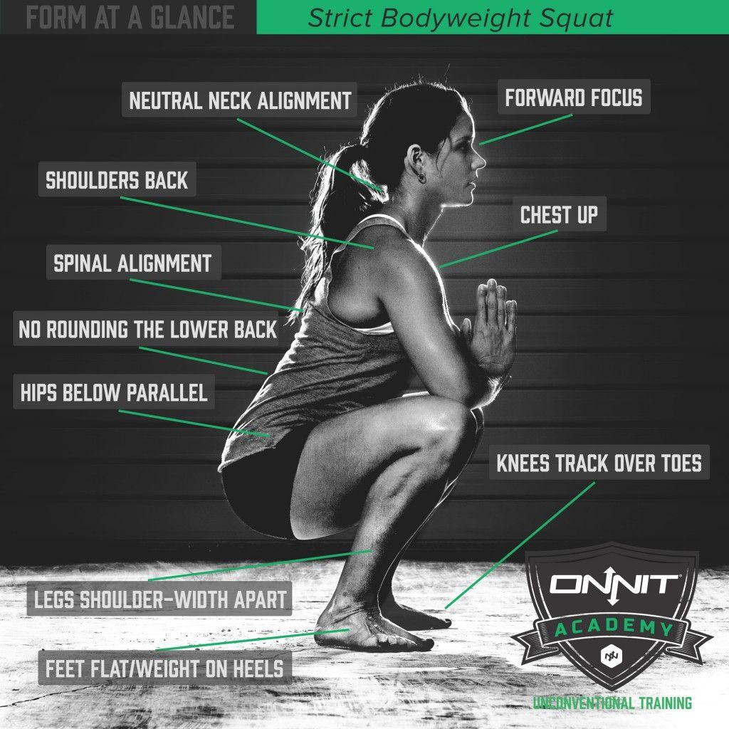 Deep squat form -10 minute squat test