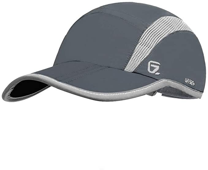 GADIEMKENSD UPF 50 Outdoor Hat Folding Reflective Running Cap - Ultra Running Hats