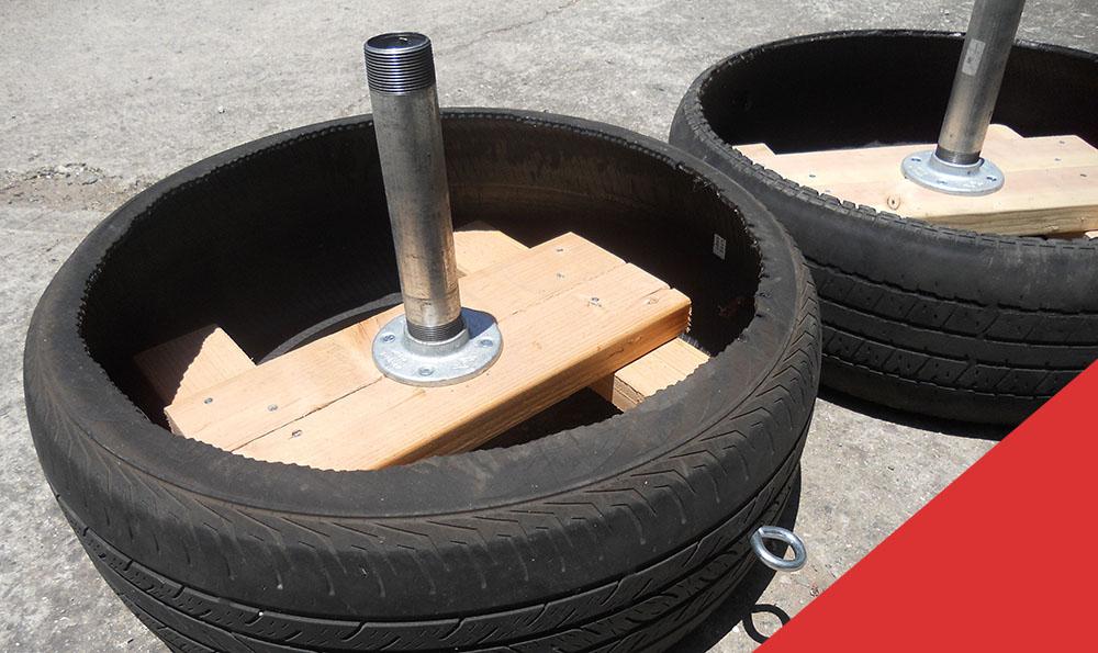 diy tire sled weight platform home gym 2