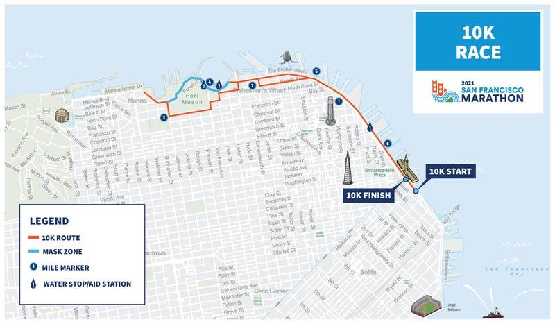 San Francisco 10k map masks
