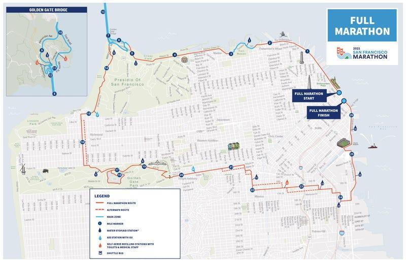 San Francisco marathon map masks