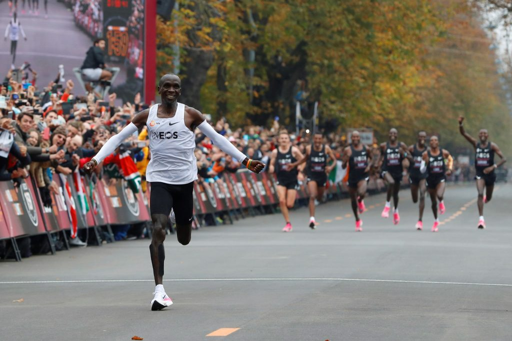 what does eliud kipchoge eat before a race