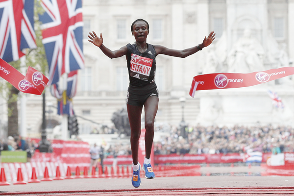 what does mary keitany eat before a race
